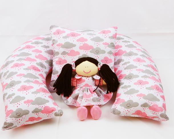 Almofada amamentação rosa